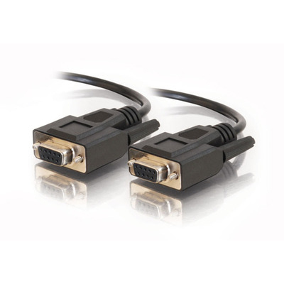 15FT DB9 F/F SERIAL RS232 CABLE - BLACK