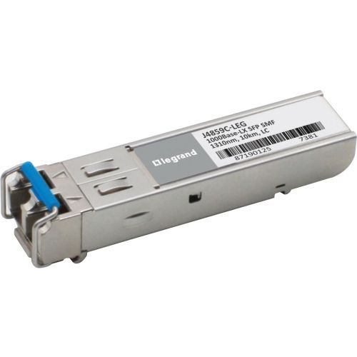 Legrand HP J4859C Compatible 1000Base-LX SMF SFP mini-GBIC Transceiver TAA - SFP (mini-GBIC) transceiver module (equivalent to: HP J4859C) - GigE - 1000Base-LX - LC single-mode - up to 6.2 miles - 1310 nm - TAA Compliant - for HPE 1700 2610 93XX Switch
