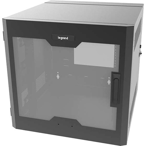 Legrand 26RU Swing-Out Wall-Mount Cabinet with Plexiglass Door-Black-TAA - System cabinet - wall mountable - black - 26U - 23.5 inch