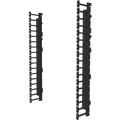 Legrand Vertical Cable Management Kit for 18RU Swing-Out Wall-Mount Cabinet - Cable management kit - black - 18U - 19 inch