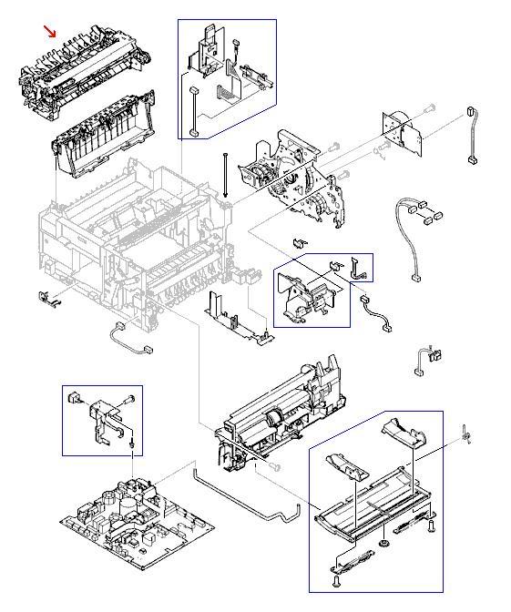 FUSER ASSEMBLY 110V LJ4100