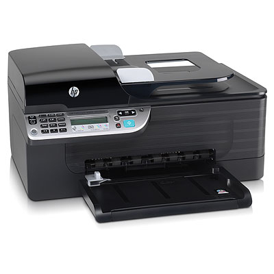 Officejet 4500 Wireless All-in-One - Multifunction ( fax / copier / printer / scanner ) - color - ink-jet - copying (up to): 28 ppm (mono) / 22 ppm (color) - printing (up to): 28 ppm (mono) / 22 ppm (color) - 100 sheets - USB 802.11b 802.11g