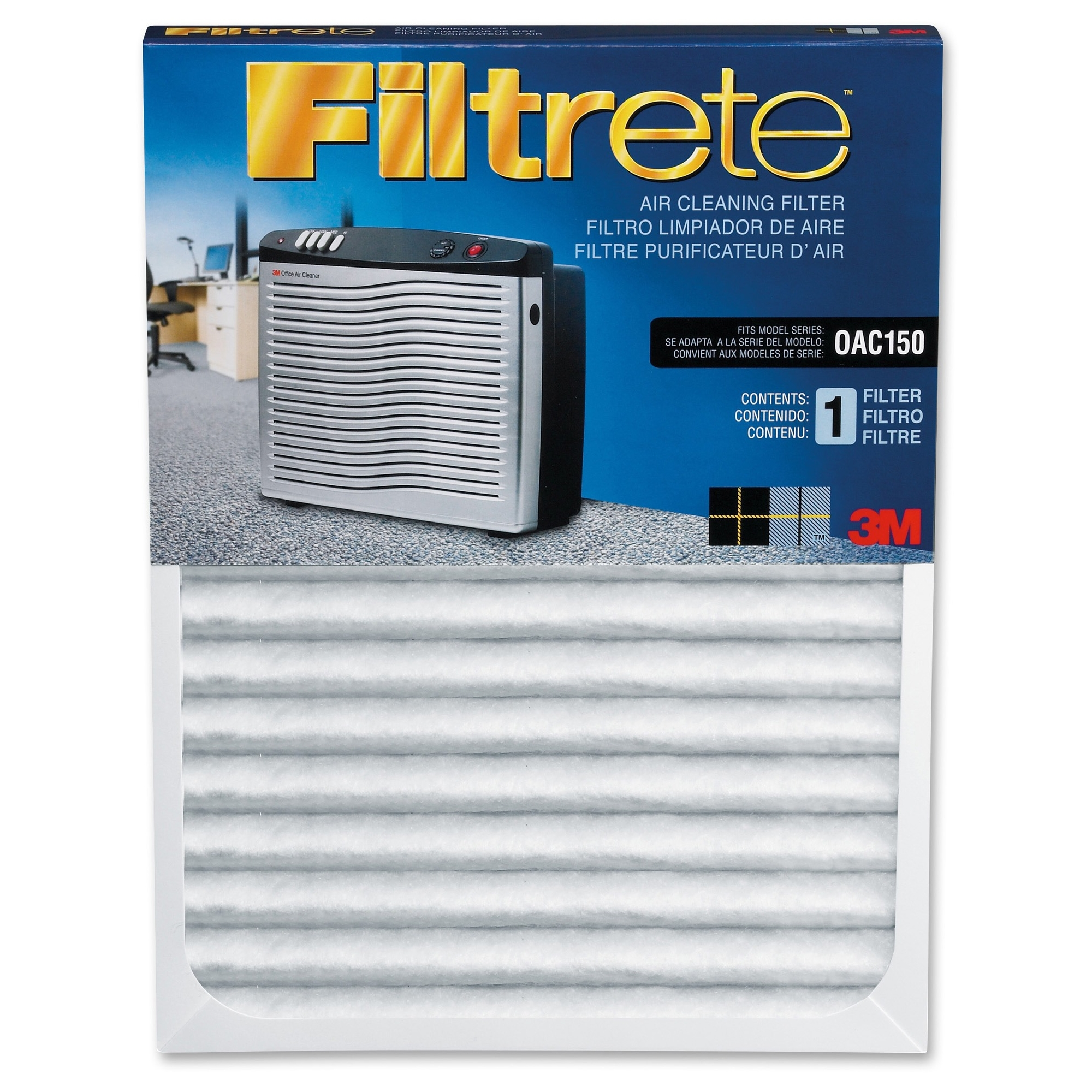 Filtrete Replacement Air Filter - 11 inch Height x 23.5 inch Width x 1.12 inch Depth - White