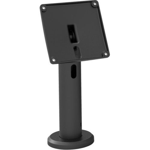 RISE THE NEW KIOSK STAND WITH VESA MOUNT FLIP&SWIVEL WITH CABLE MANAGEMENT - 10 CM HEIGHT BLACK