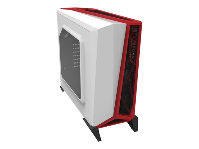 CARBIDE SERIES SPEC-ALPHA MID-TOWER WHITE & RED GAMING CASE