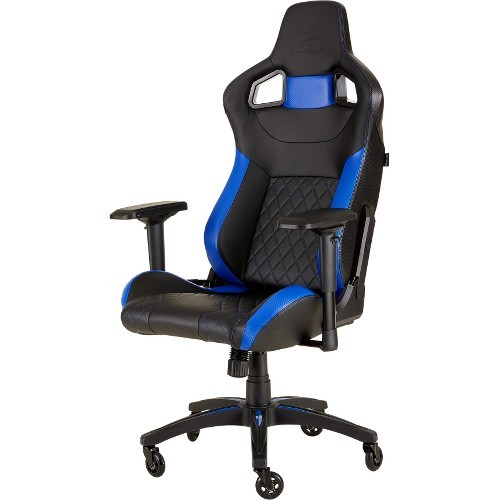 T1 RACE GAMING CHAIR BLK/BLU HIGH BACK DESK/OFFICE
