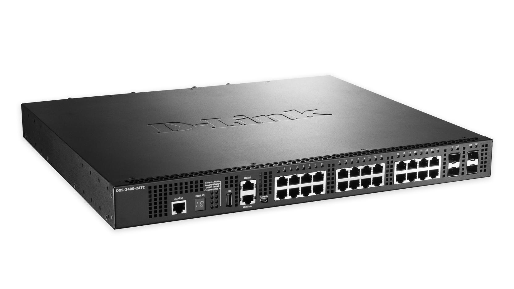 DXS 3400-24SC - Switch - L3 Lite - managed - 20 x 10 Gigabit SFP+ + 4 x combo 10 Gigabit SFP+ - desktop rack-mountable