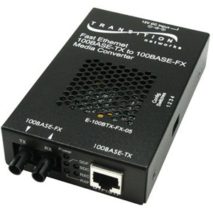 Fiber media converter - 100Mb LAN - 100Base-FX 100Base-TX - RJ-45 / SC single-mode - up to 12.4 miles - 1310 nm