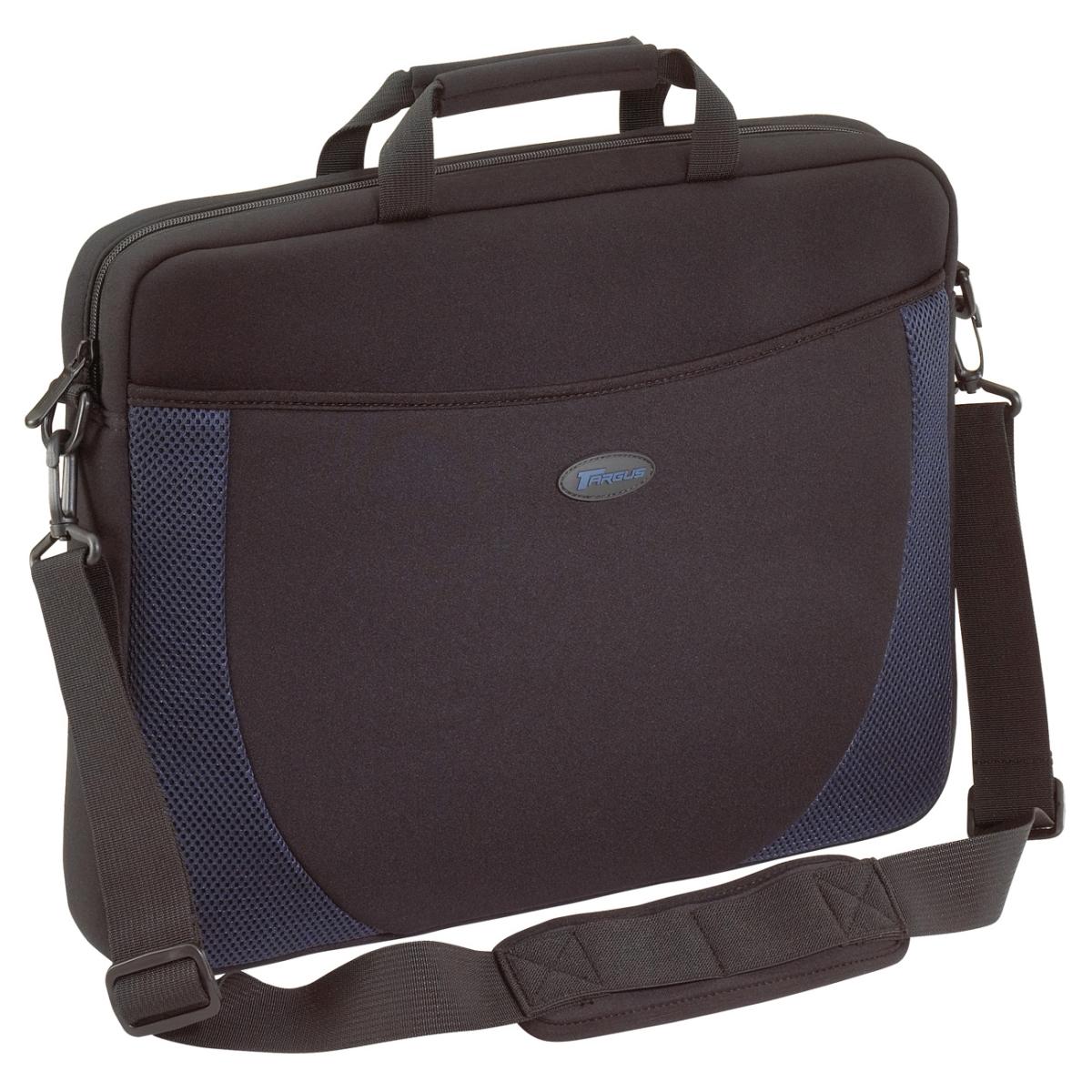 Notebook Case - Top-loading - Shoulder Strap Handle - Neoprene - Black Blue