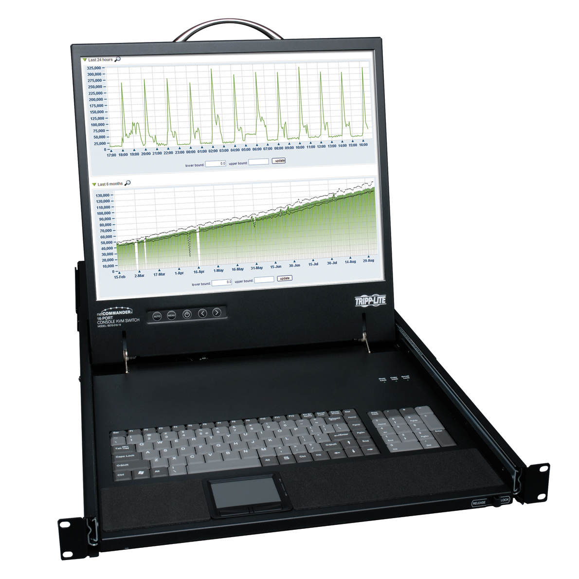 Lite NetCommander Rackmount LCD with KVM Switch - Steel Housing - 16 Computer(s) - 19 inch - 16 x RJ-45 Keyboard/Mouse/Video - 1U Height