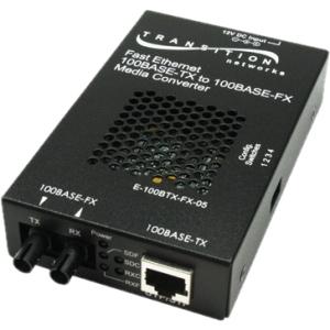 Networks E-100BTX-FX-05(SMLC) Media Converter - 1 x Network (RJ-45) - 1 x LC Ports - 10/100Base-TX 100Base-FX - External