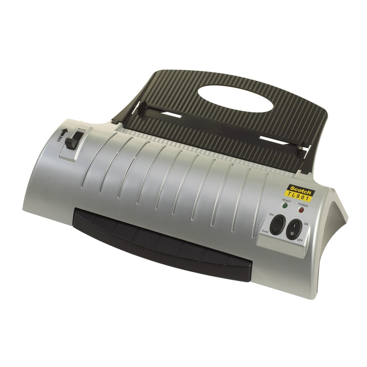 THIS IS A THERMAL LAMINATOR THAT WILL LAMINATE ITEMS UP TO 9 IN WIDE. IT IS A 2