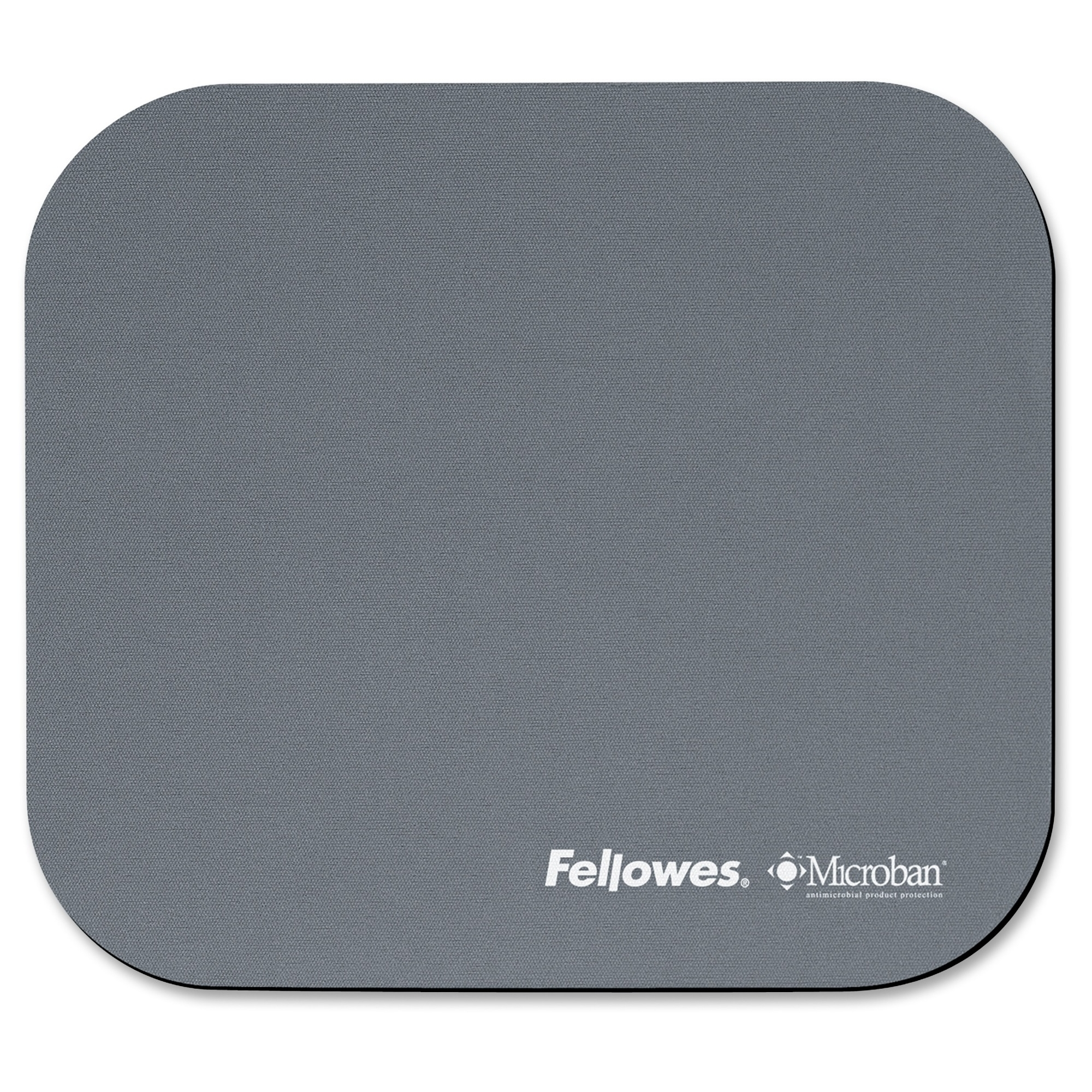 Microban Mouse Pad - 0.1 inch x 9 inch x 8 inch Dimension - Graphite - Polyester Rubber - Wear Resistant Tear Resistant Scratch Resistant