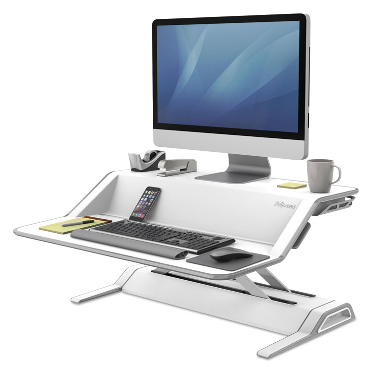 Lotus Sit-Stand Workstation - Stand for LCD display / keyboard / mouse - white