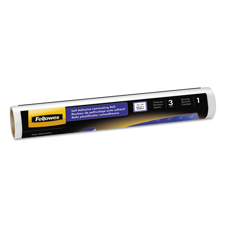 Self-Adhesive Laminating Roll 3mil 16 inch X 10 Ft Glossy Finish