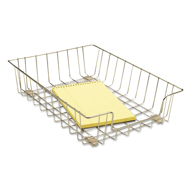 WIRE 3IN LETTER TRAY WITH CONTEMPORARY DESIGN ORGANIZES DOCUMENTS AND F