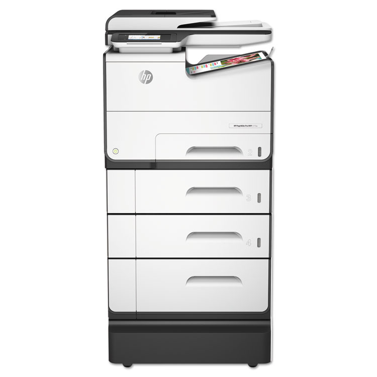 PageWide Pro 577z - Multifunction printer - color - ink-jet - Legal (8.5 in x 14 in) (original) - A4/Legal (media) - up to 70 ppm (copying) - up to 70 ppm (printing) - 1500 sheets - 33.6 Kbps - USB 2.0 LAN Wi-Fi(n)  NFC USB 2.0 host