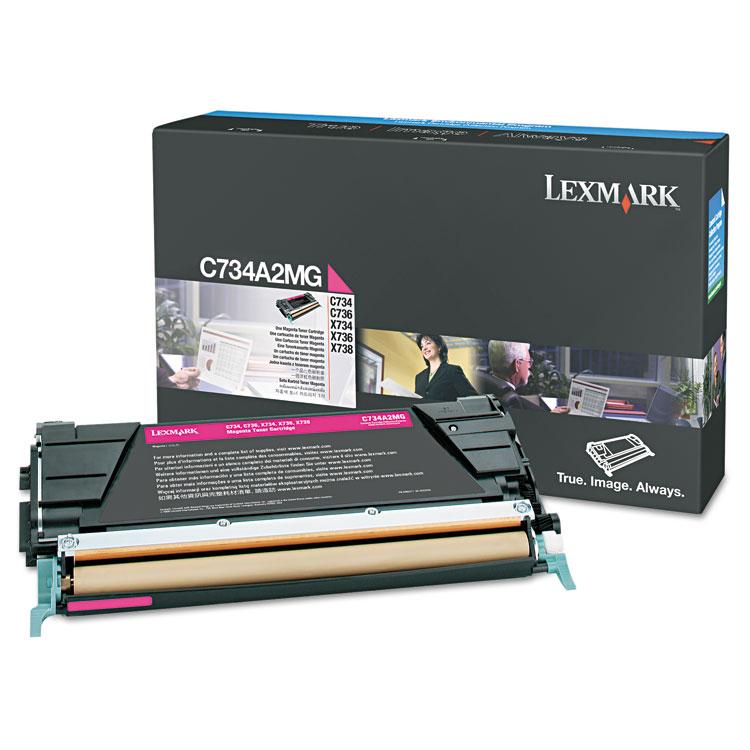 Magenta - original - toner cartridge LCCP - for Lexmark C734 C736 X734 X736 X738