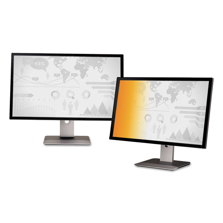 Gold Privacy Filter for 22 inch Widescreen Monitor (16:10) - Display privacy filter - 22 inch wide - gold