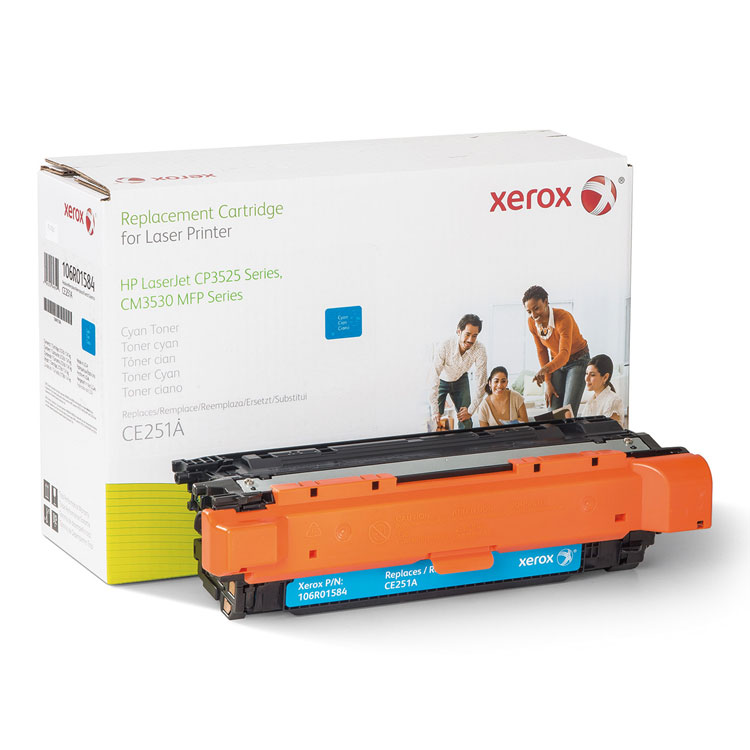 HP Colour LaserJet CM3530 MFP - Cyan - toner cartridge (alternative for: HP CE251A) - for HP Color LaserJet CM3530 MFP CM3530fs MFP CP3525 CP3525dn CP3525n CP3525x