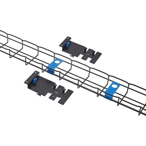VERTICAL FLEXTRAY 4IN X 2IN 48U WITH MOUNTING HARDWARE BLACK