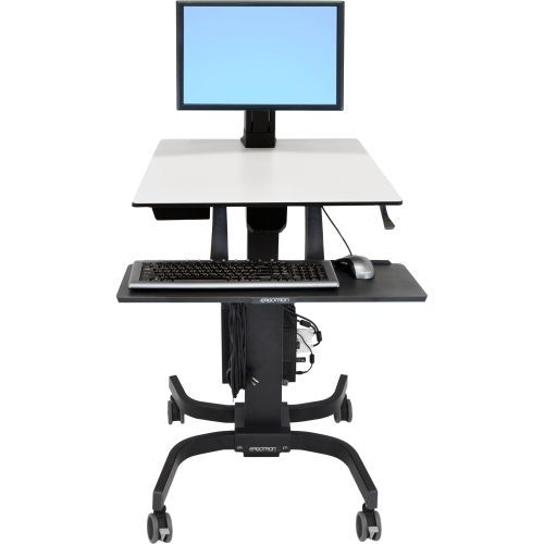 WorkFit-C Computer Stand - Up to 24 inch Screen Support - 16.09 lb Load Capacity - 23.9 inch Width x 22.8 inch Depth - Powder Coated - Plastic Steel - Gray Black