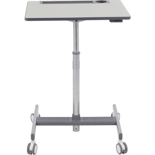 LearnFit SE2 Short - Sit/standing desk - mobile - rectangular - medium gray