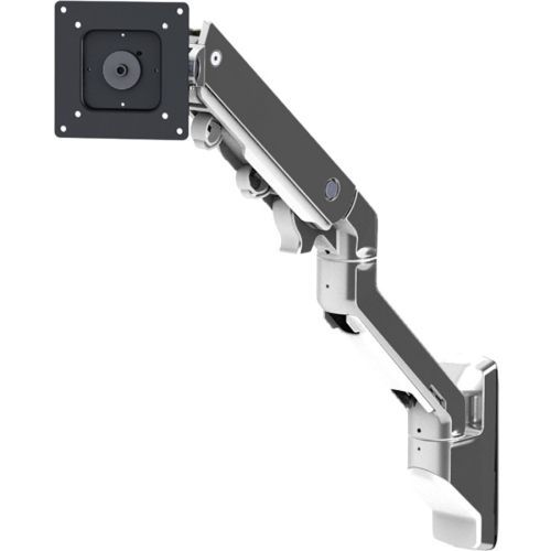 HX Wall Mount Monitor Arm - Mounting kit (articulating arm wall mount pivot mounting hardware extension part) for monitor - aluminum - polished aluminum - screen size: up to 42 inch - wall-mountable