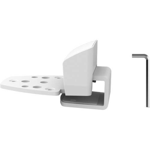 Top Mount C-Clamp - Mounting kit (desk clamp mount C-clamp) for 2 LCD displays - white