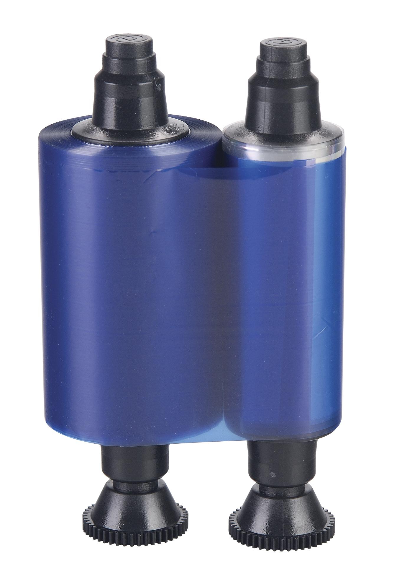 BLUE MONOCHROME RIBBON DUALYS3/PEBBLE4/QUANTUM2/SECURION COMPATIBLE 1000 PRINTS PER ROLL PRICED PER ROLL