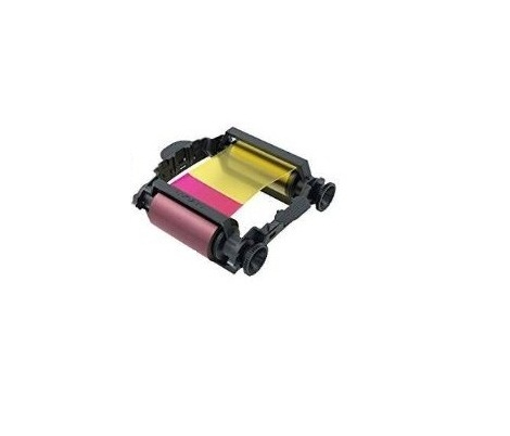 BADGY200 YMCKO COLOR RIBBON FOR 100 PRINTS 100 THICK CARDS 30 MIL 1 CLEANING KIT COMPATIBLE WITH BADGY 1