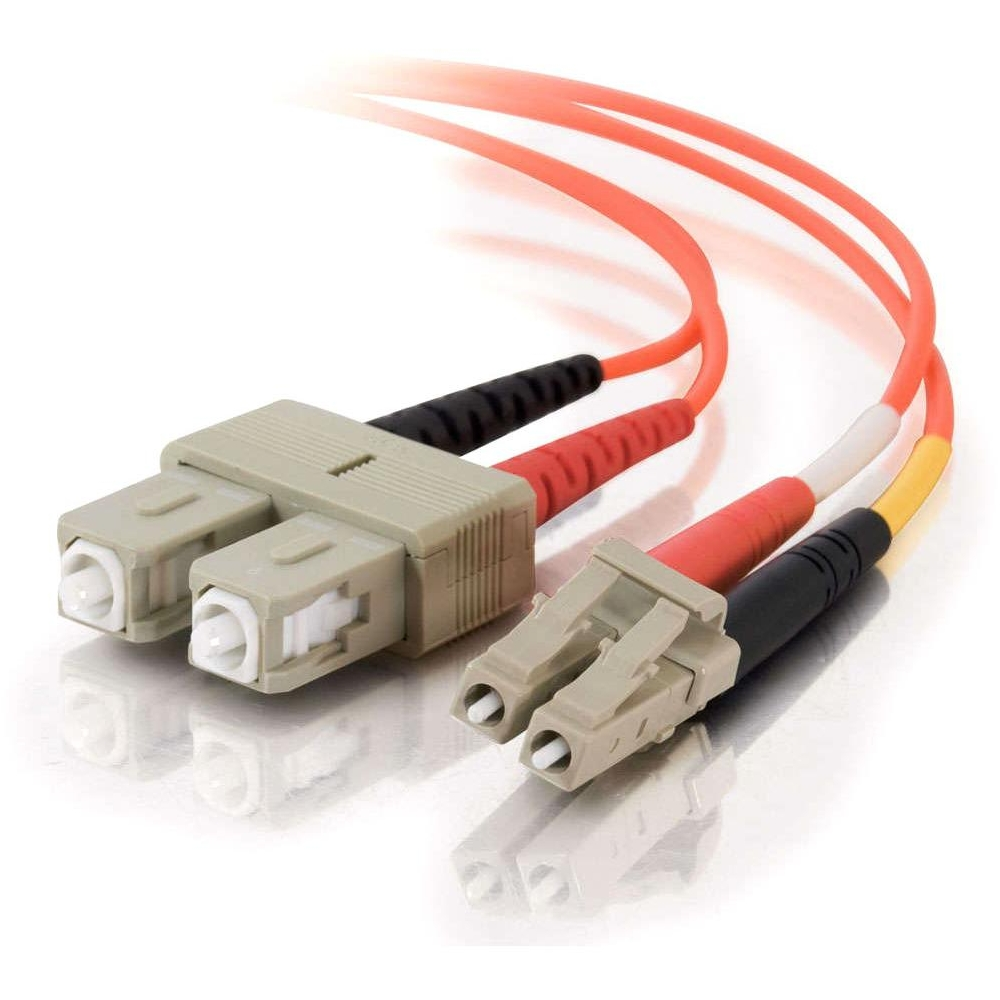 1m LC-SC 62.5/125 OM1 Duplex Multimode PVC Fiber Optic Cable - Orange - Fiber Optic for Network Device - LC Male - SC Male - 62.5/125 - Duplex Multimode - OM1 - 1m - Orange