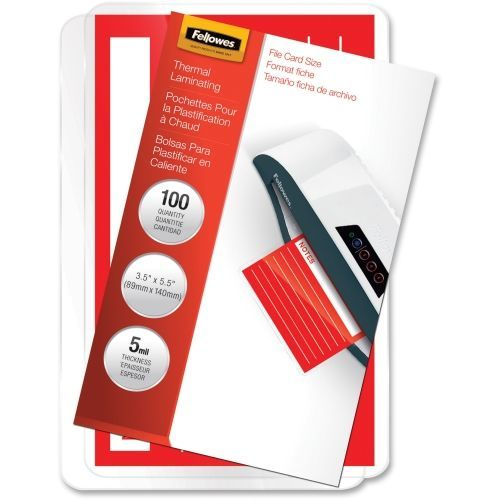 File Card - 5 mil - 100-pack - clear - 3.5 in x 5.5 in glossy laminating pouches