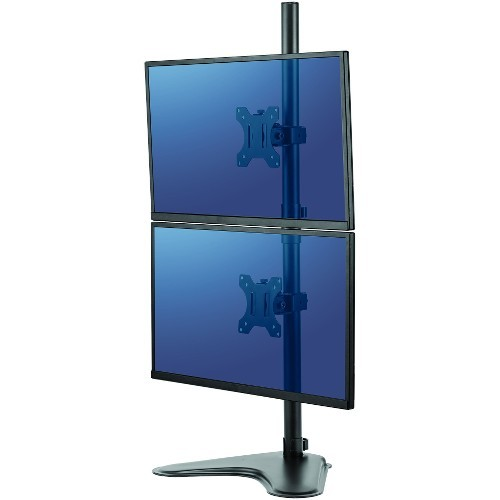 Professional Series Free-standing Dual Stacking Monitor Arm - Stand for 2 monitors - black - screen size: up to 32 inch