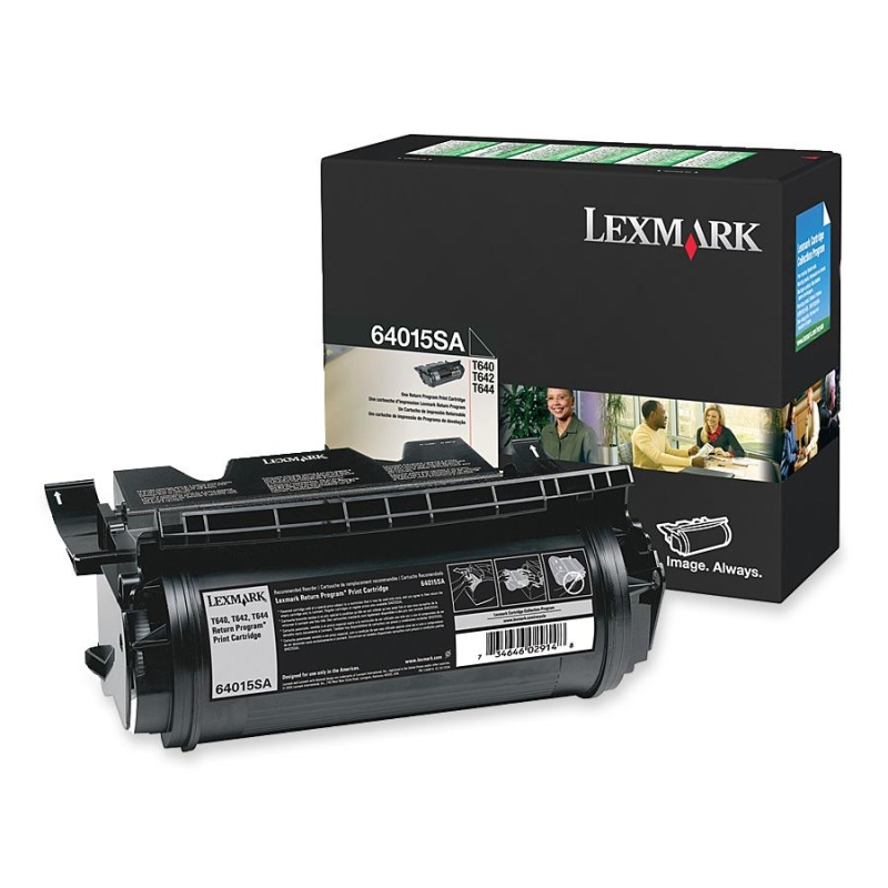Black - original - toner cartridge LCCP LRP - for Lexmark T640 T642 T644
