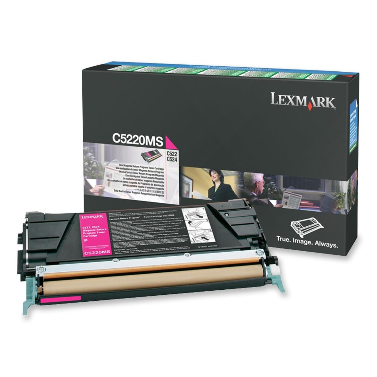 Magenta - original - toner cartridge LCCP LRP - for Lexmark C522 C524 C530 C532 C534