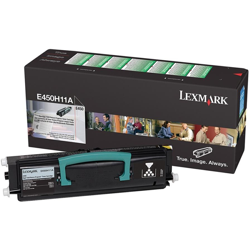 High Yield - black - original - toner cartridge LCCP LRP - for Lexmark E450dn E450dtn