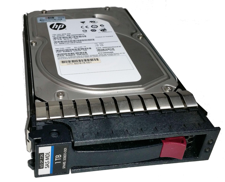 1TB 7.2K RPM Hot Plug SAS Dual Port HHD W Tray