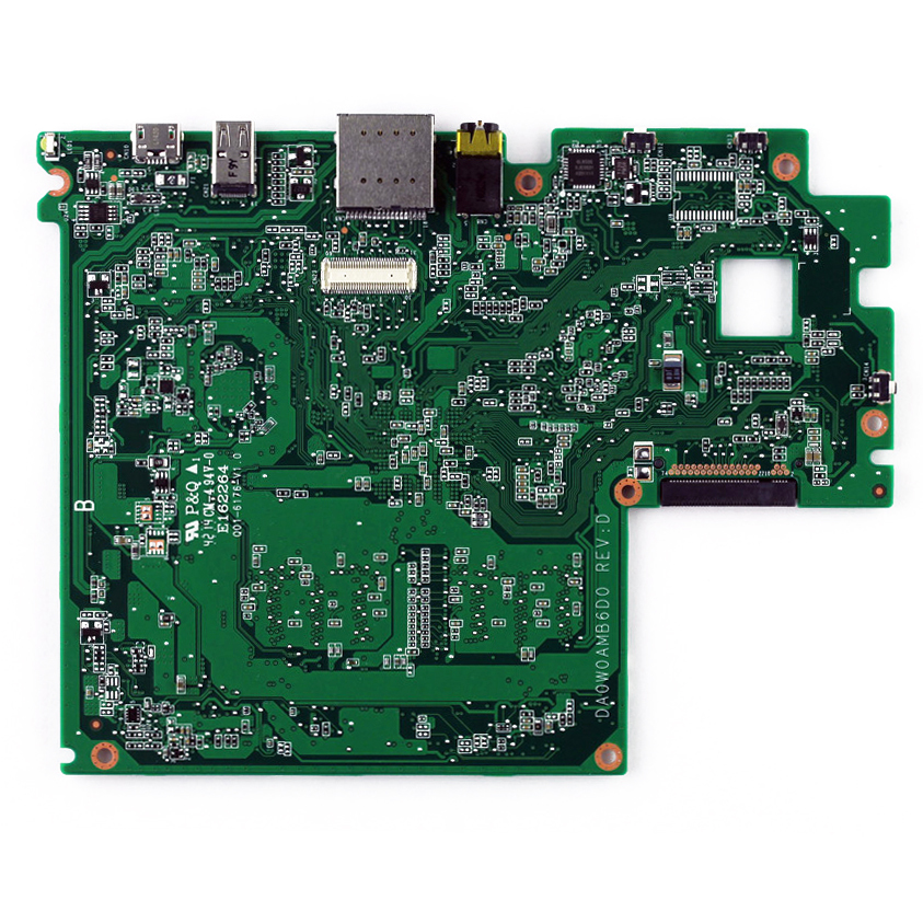 System board (motherboard) - Includes an Intel Atom Z3735G quad-core processor (1.83GHz) a graphics subsystem with UMA memory 1.0GB system memory 32GB system storage and a non-Windows 8 operating system