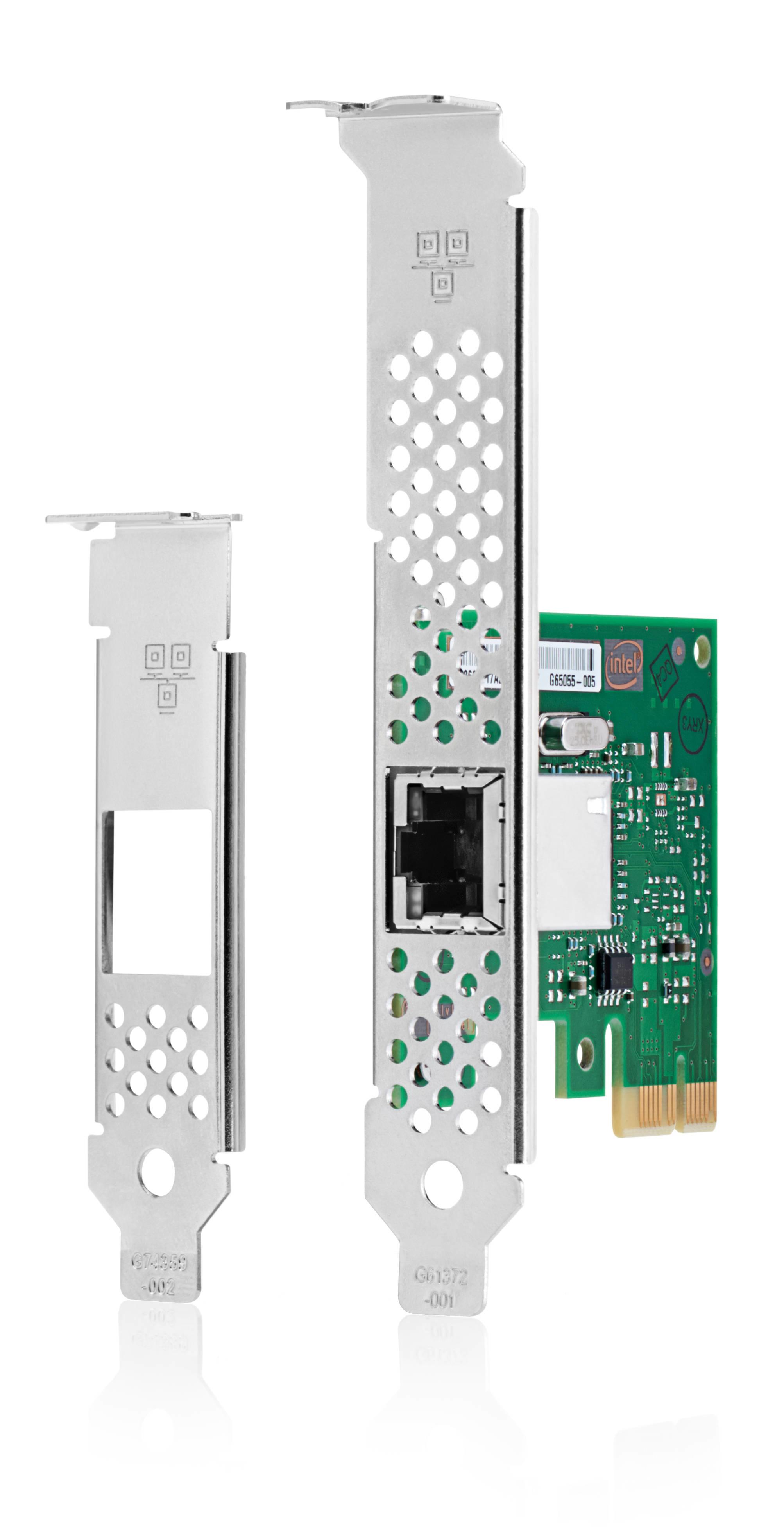Intel I210-T1 - Network adapter - PCIe 2.1 low profile - Gigabit Ethernet x 1 - for HP 280 G4 Desktop Pro A 300 G3 Pro A G2 ProDesk 400 G6 600 G5 Workstation Z1 G5