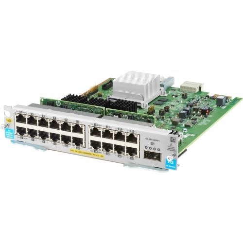 ProCurve Switch zl2 20P PoE+ / 1P 40GbE QSFP+ v3 Module - Includes 20 RJ45 10/100/1000BASE-T autosensing ports (capable of supplying Power over Ethernet Plus (PoE+) per IEEE 802.3at) and one Quad Small Form-factor Pluggable Plus (QSFP+) 40GbE port