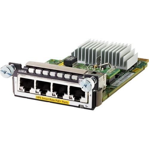 Aruba 3810M/2930M Smart Rate Module - Expansion module - 1/2.5/5/10GBase-T (PoE+) x 4 - for HPE Aruba 2930M 24 2930M 48 3810 3810M 16 3810M 24 3810M 40 3810M 48