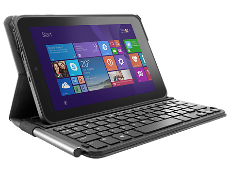 Keyboard and folio case - Bluetooth - US - graphite black - for Pro 408 G1 Pro Tablet 408 G1