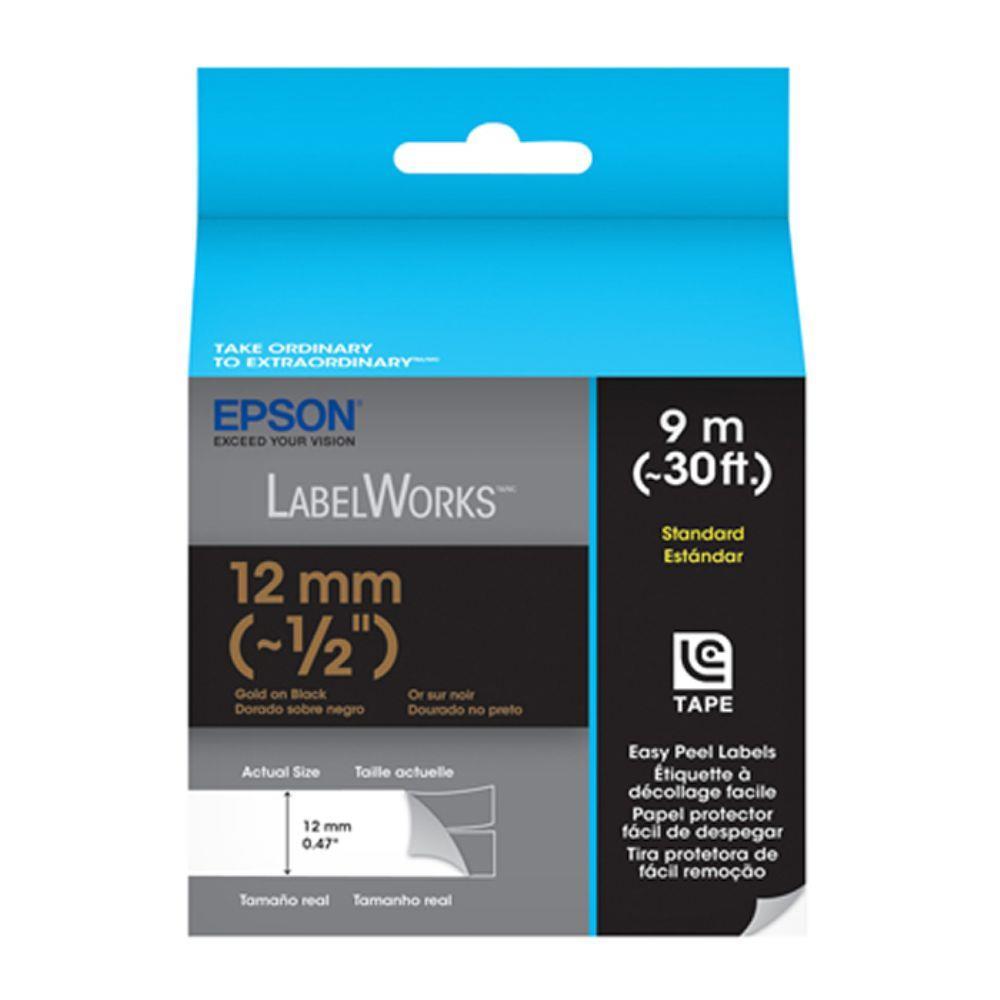 Epson Standard LC Tape Cartridge Gold on Black for Epson LW-300 LW-400