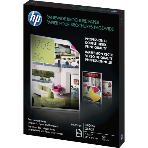PageWide Double Sided Glossy Brochure Paper (8.5 x 11) (200 Sheets/Pkg)