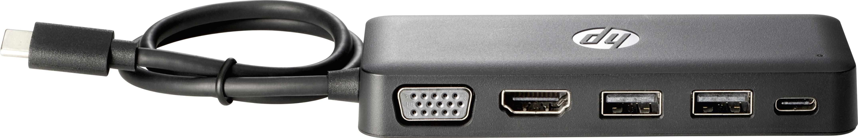 Travel Hub - Port replicator - USB-C - VGA HDMI - for Chromebook 13 G1 EliteBook 1040 G4 EliteBook x360 Pro x2 ZBook 15 G4 17 G4 Studio G4
