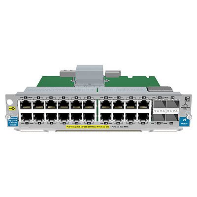ProCurve Switch zl 20P Gig-T / 4P SFP v2 Module - Includes 20 RJ45 10/100/1000BASE-T autosensing ports and four Small Form-factor Pluggable (SFP) ports - PoE is NOT supported on this module