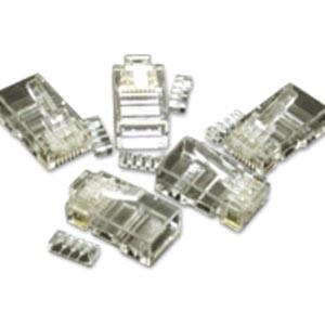 Modular Plug - Network connector - RJ-45 (M) - CAT 5e - solid stranded - clear (pack of 50)