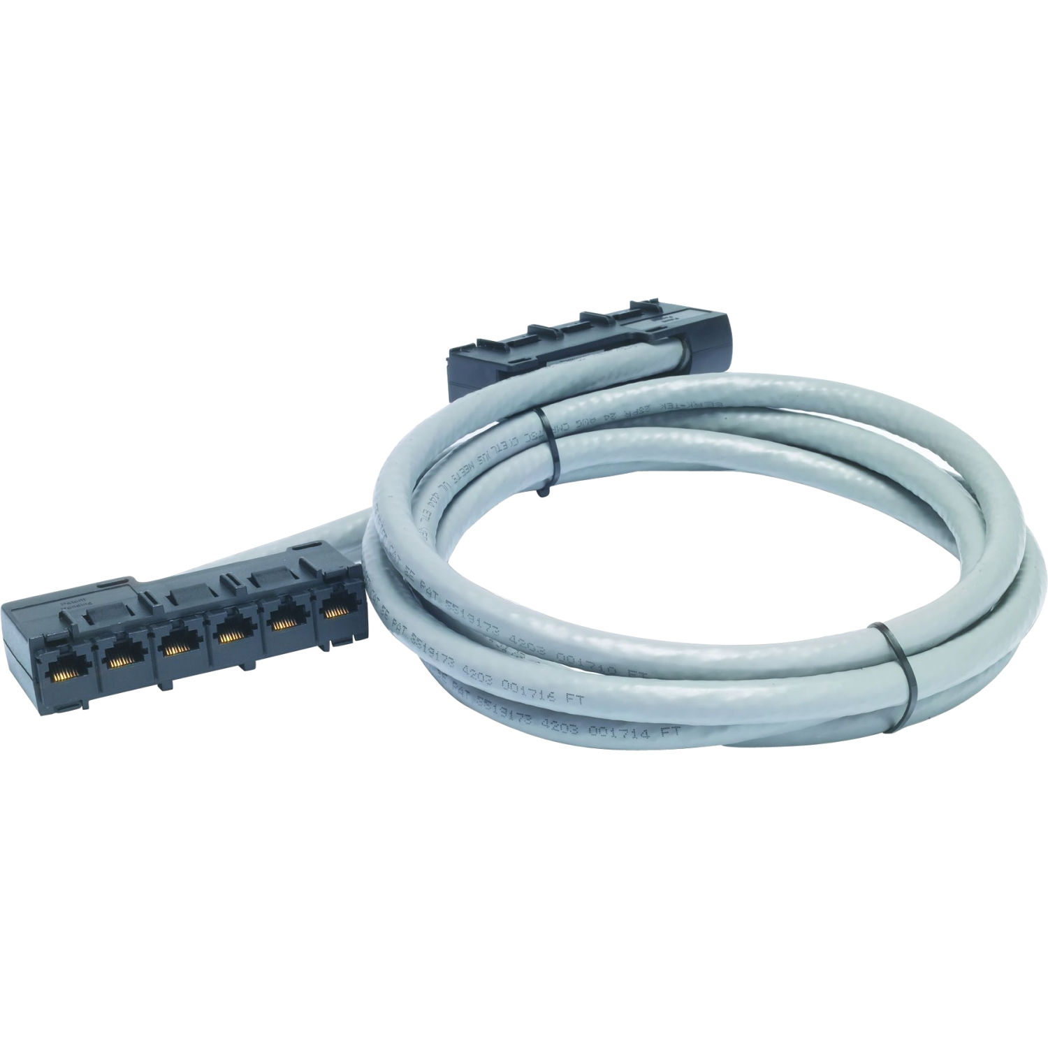Data Distribution Cable - Network cable - RJ-45 (F) to RJ-45 (F) - 31 ft - UTP - CAT 5e - gray