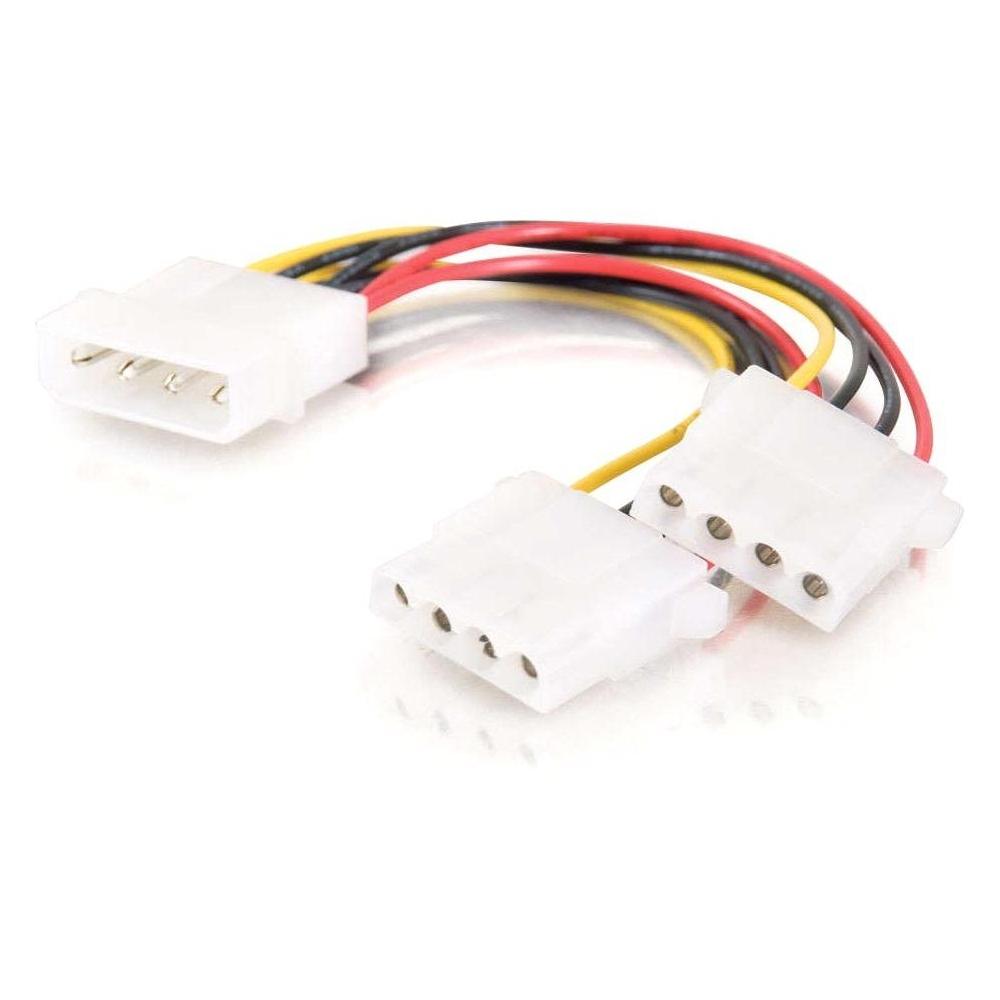Power splitter - 4 pin internal power (M) to 4 pin internal power (F) - 1.2 ft